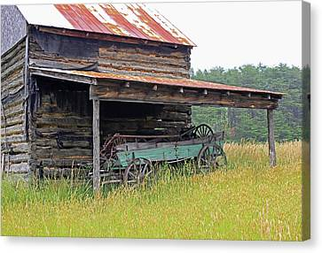 Log Cabin Canvas Print - Another Time IIi by Suzanne Gaff