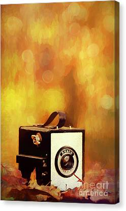Ansco Vintage Box Camera Canvas Print by Darren Fisher