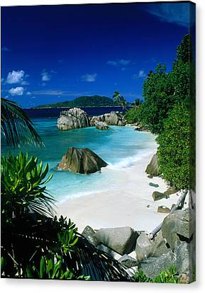 Anse Patatran La Digue Seychelles Canvas Print by Panoramic Images