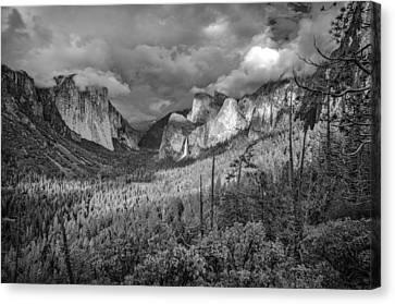 Ansel Adams Inspired Yosemite Tunnel View Canvas Print