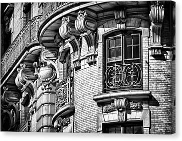 Ansonia Building Detail 36 Canvas Print by Val Black Russian Tourchin