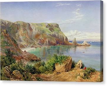 Ansty's Cove Canvas Print by John William Salter