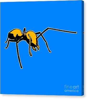 Ant Graphic  Canvas Print by Pixel  Chimp