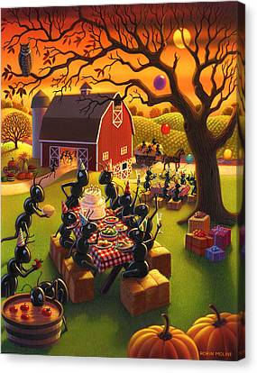 Ant Party Canvas Print by Robin Moline