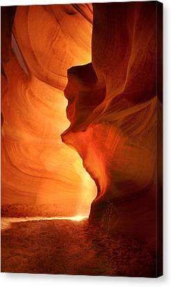 Antelope Canyon - Stone Face Canvas Print by Jacek Joniec