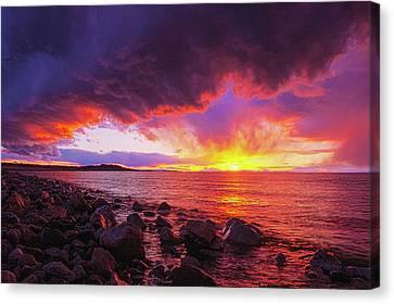 Antelope Island Sunset Canvas Print