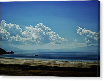 Antelope Island, Utah Canvas Print by Cynthia Powell