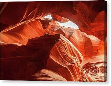 Antelope Canyon, Howling Wolf Canvas Print by Martin Williams