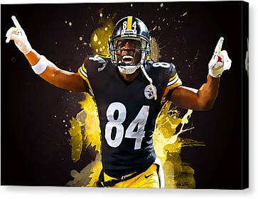 Antonio Brown Canvas Print by Semih Yurdabak
