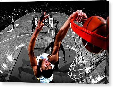 Anthony Davis Canvas Print by Brian Reaves
