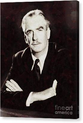 Anthony Eden, Prime Minister Of United Kingdom By Sarah Kirk Canvas Print by Sarah Kirk