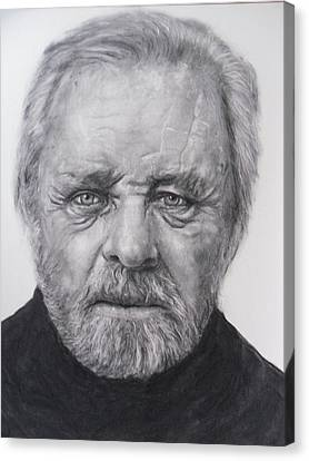 Anthony Hopkins Canvas Print by Adrienne Martino