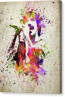 Anthony Kiedis In Color Canvas Print by Aged Pixel