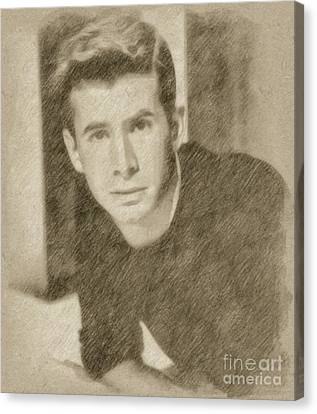 Anthony Perkins, Actor Canvas Print by Frank Falcon