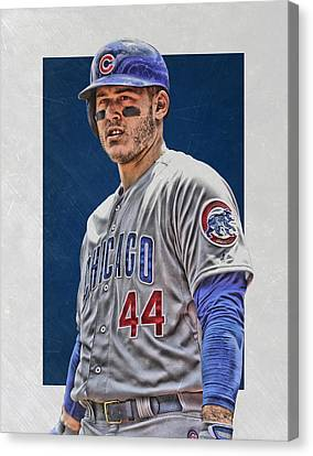 Anthony Rizzo Chicago Cubs 3 Canvas Print by Joe Hamilton