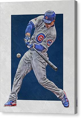 Cubs Canvas Print - Anthony Rizzo Chicago Cubs Art 1 by Joe Hamilton