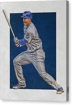 Anthony Rizzo Chicago Cubs Art 2 Canvas Print by Joe Hamilton