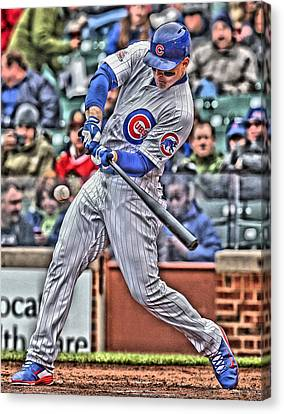 Anthony Rizzo Chicago Cubs Canvas Print by Joe Hamilton