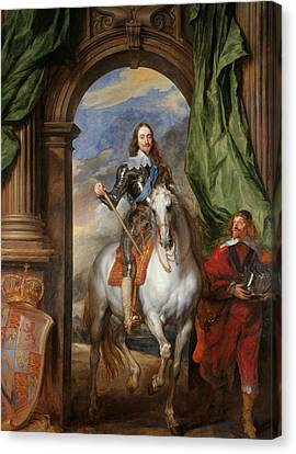 Anthony Van Dyck - Charles I With M. De St Antoine Canvas Print