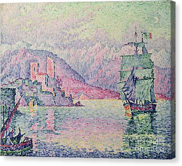 Antibes Canvas Print by Paul Signac