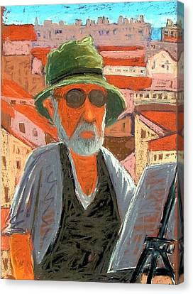Canvas Print featuring the painting Antibes Self by Gary Coleman