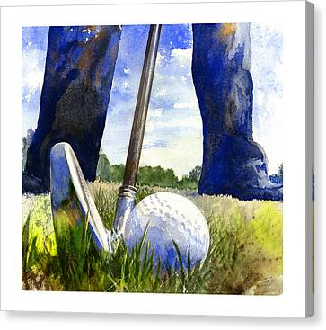 Golf Ball Canvas Print - Anticipation by Andrew King