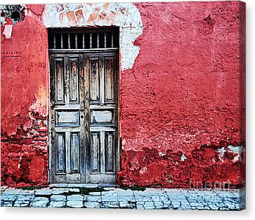 Antigua Door  Canvas Print