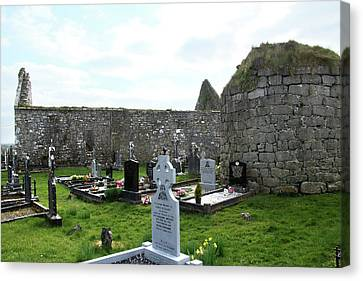 Canvas Print featuring the photograph Antigua Iglesia De Killinaboy, Ireland by Marie Leslie