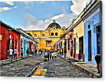 Antigua Street Canvas Print by Anthony C Chen