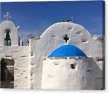 Canvas Print featuring the photograph Antiparos Island Greece  by Colette V Hera  Guggenheim