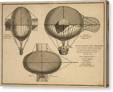 Antique Aeronautics Canvas Print