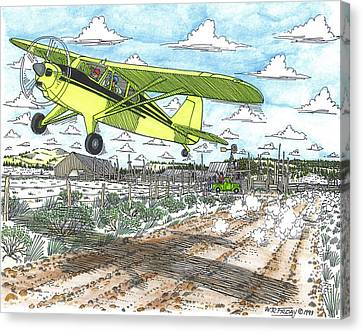 Antique Airplane Taking Flight Canvas Print by Bill Friday