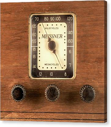 Antique Radio Canvas Print by Jim Hughes