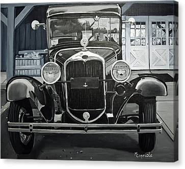 Antique At Mann's Canvas Print by Mary Capriole