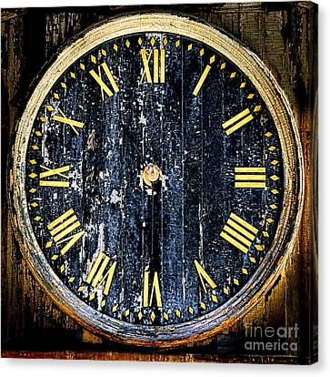 Antique Bell Tower Clock Canvas Print