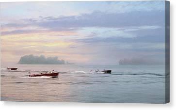 Antique Boat Rides Canvas Print