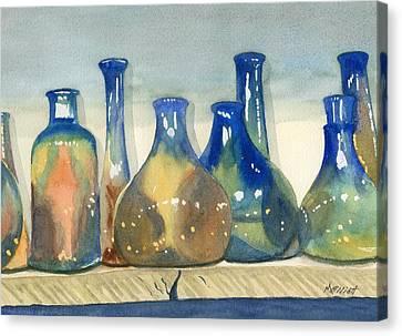 Antique Bottles Canvas Print by Marsha Elliott