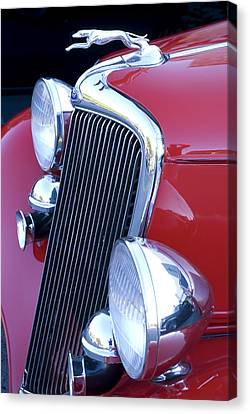 Antique Car Hood Ornament Canvas Print