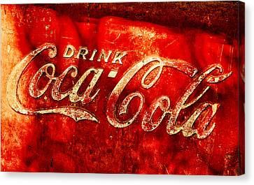 Antique Coca-cola Cooler Canvas Print