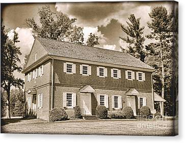 Antique Crosswicks Meeting House Canvas Print by Olivier Le Queinec