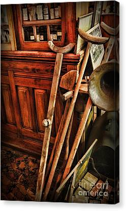 Crutch Canvas Print - Antique Crutches by Paul Ward