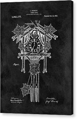 Antique Cuckoo Clock Patent Canvas Print by Dan Sproul