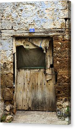 Antique Damaged Door Canvas Print by RicardMN Photography