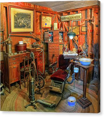 Antique Dental Office Canvas Print by Dave Mills