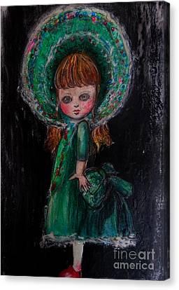 Antique Doll Canvas Print by Akiko Okabe