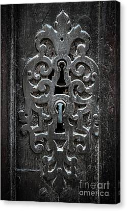 Antique Door Lock Canvas Print by Elena Elisseeva