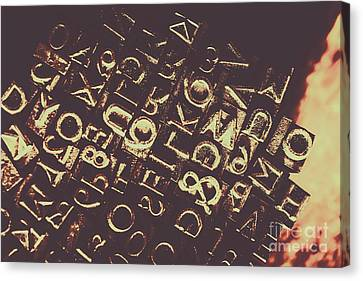 Antique Enigma Code Canvas Print