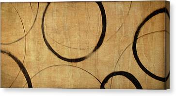 Canvas Print featuring the painting Antique Ensos by Julie Niemela