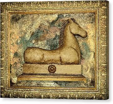 Antique Equine Canvas Print by Carol Peck