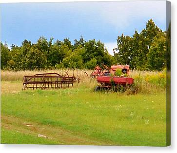 Antique Farm Equipment 2 Canvas Print by Lanjee Chee